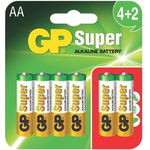 Bateria GP BATTERY Super Alkaline LR6/AA (6 szt.) (4891199134227)