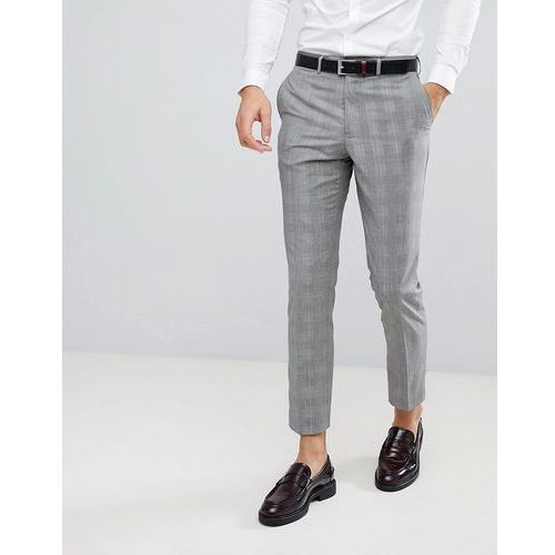 skinny wedding suit trouser in check - grey, French connection