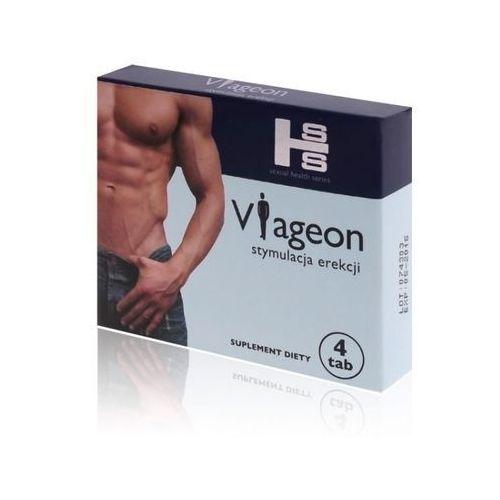 Viageon - Stymulacja Erekcji - Tabletki 4szt. | 100% DYSKRECJI | BEZPIECZNE ZAKUPY