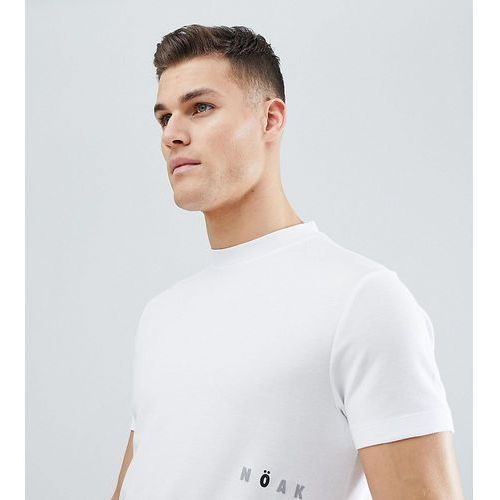 t-shirt in sports jersey with printed logo - white, Noak, XXS-XXL