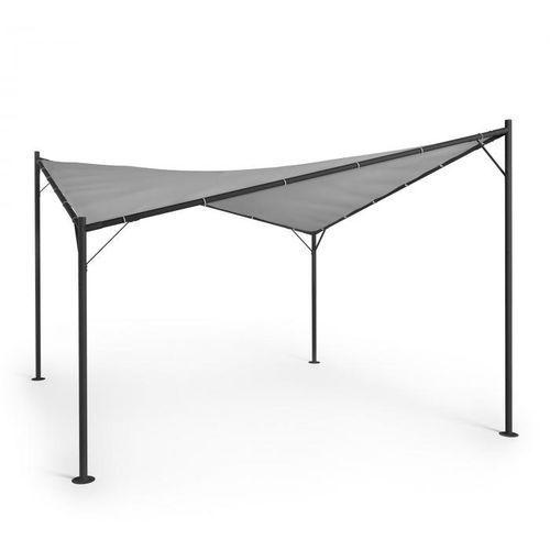 Blumfeldt sombra, pergola, kompletny zestaw, 4 x 4 m, dach poliestrowy, szary (4060656208034)