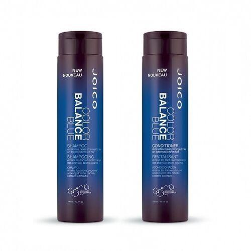 Joico color balance blue | zestaw szampon + odżywka neutralizujące żółty odcień - 2x300ml (0744694404484)