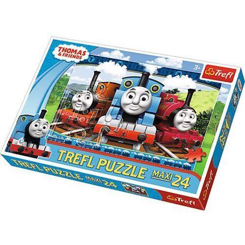 Trefl Puzzle 24 maxi wesole lokomotywy- (5900511142310)
