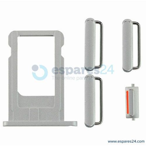 Zestaw przycisków + tacka sim iphone 6 plus srebrny marki Espares24