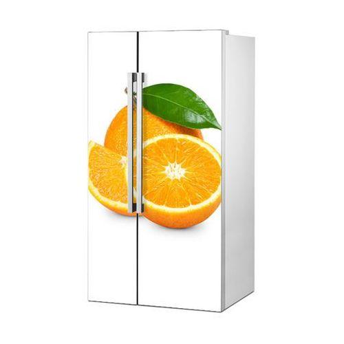 Mata magnetyczna na lodówkę side by side - pomarańcza na białym tle 4951 marki Stikero