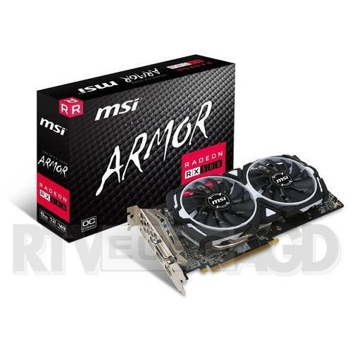Karta graficzna MSI Radeon RX 580 ARMOR 8G OC, 8GB, DL-DVI-D/HDMI2/DP2/ATX (RX 580 ARMOR 8G OC) Darmowy odbiór w 20 miastach!, RX 580 ARMOR 8G OC
