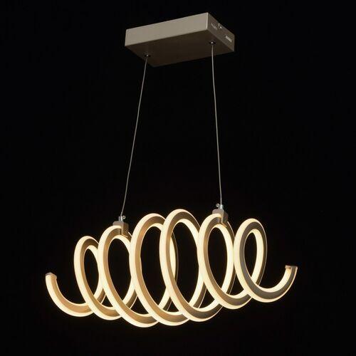 Spiralna lampa LED wisząca perłowo-złota DeMarkt Techno (496018501)