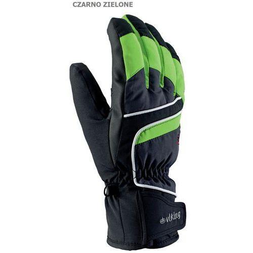 Męskie rękawice narciarskie  biset czarno-zielony 7, marki Viking