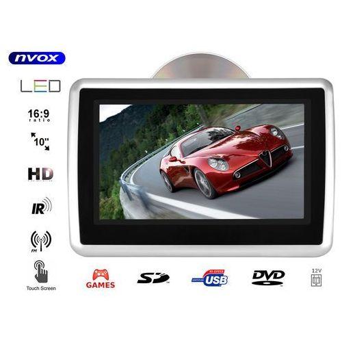 """Nvox Monitor dotykowy samochodowy zagłówkowy led 10"""" hd z dvd usb sd ir fm gry 12v"""