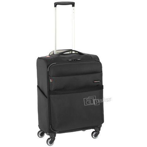 Roncato Venice 2.0 mała walizka kabinowa 23/55 cm / na tablet 10'' / czarna, kolor czarny