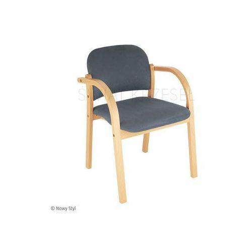 Sk  ns elva drewniane krzesło tapicerowane marki Nowy styl