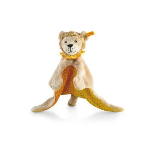 szmacianka-przytulanka lew leon, 28 cm, kolor beżowo-żółto-pomarańczowy wyprodukowany przez Steiff