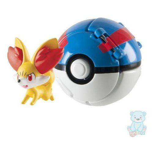 Tomy Pokemon great ball throw 'n' pop z figurką fennekin