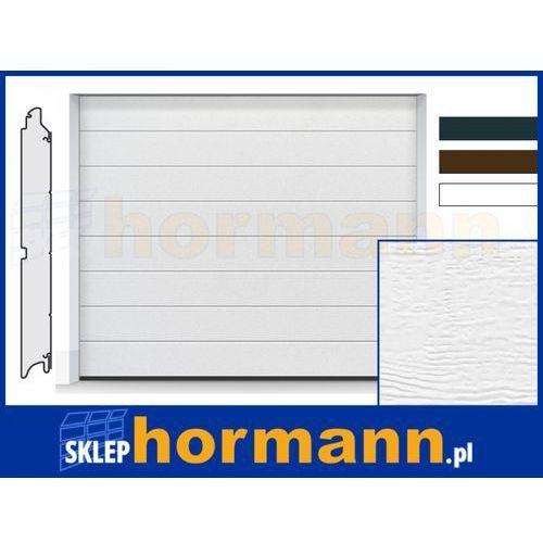 Hormann Brama renomatic light 2018, 2500 x 2500, przetłoczenia m, woodgrain, kolor do wyboru: biały, brązowy, antracytowy