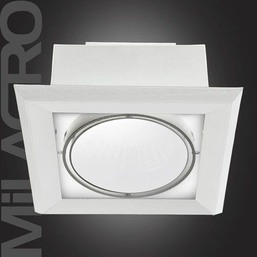 Plafon oprawa wpuszczana lampa sufitowa downlight Milagro Blocco 1x7W LED biały 471, 471