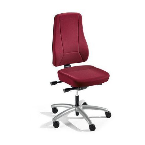 Krzesło obrotowe z podporą lędźwi, mechanizm synchroniczny, siedzisko nieckowe, marki Interstuhl büromöbel
