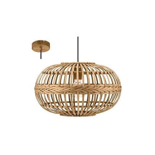 49771 amsfield lampa wisząca stal brązowy / drewno brązowy vintage loft marki Eglo