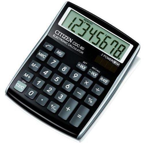 Citizen Kalkulator cdc-80bk black darmowy odbiór w 20 miastach! (4562195133087)