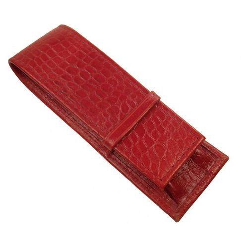 Tomi ginaldi Etui na długopisy ed-227k wykonane ze skóry naturalnej o fakturze imitującej skórę krokodyla - kolekcja krokodyl