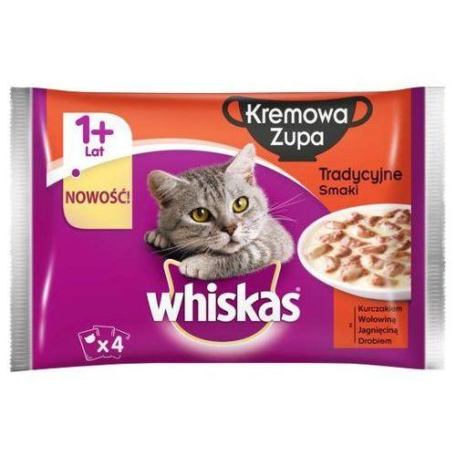 Whiskas Kremowa zupa Tradycyjne smaki 4x85g