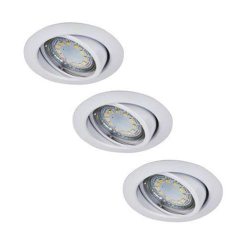 Oczko lampa sufitowa oprawa wpuszczana Rabalux Lite 3X50W GU10 biały 1049