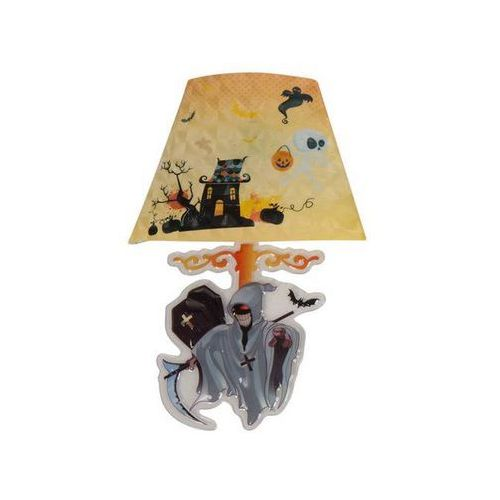 Świecąca naklejka na ścianę - lampa ze śmiercią - 22 cm