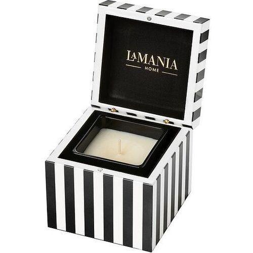 La mania home Świeca w szkatułce stripes