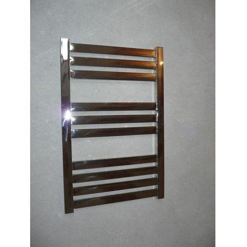Grzejnik dekoracyjny vas - rurka płaska, 600x800, polerowana stal nierdzewna marki Thomson heating