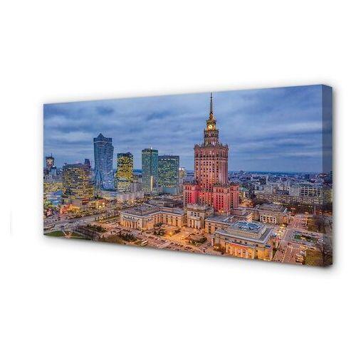 Obrazy na płótnie Warszawa Panorama zachód słońca
