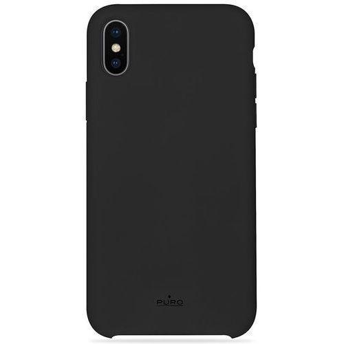 Puro icon cover - etui iphone x (czarny) limited edition