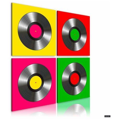obraz - winyle: pop art 80x80 cm marki Selsey