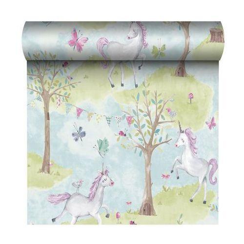 Tapeta dla dzieci unicorn multikolor na flizelinie marki Grandeco