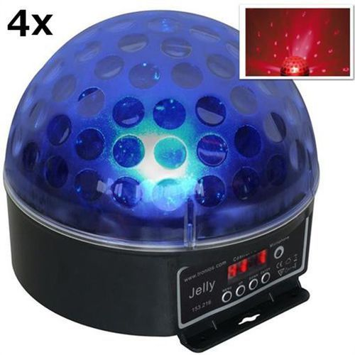 Beamz Magic Jelly DJ-Ball Zestaw 4 x Efekt świetlny kula LED RGB DMX