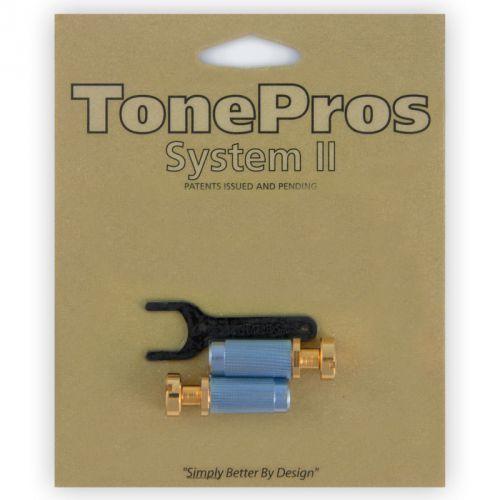 vgm1-g - g-style locking studs, części mostka do gitary, złote marki Tonepros