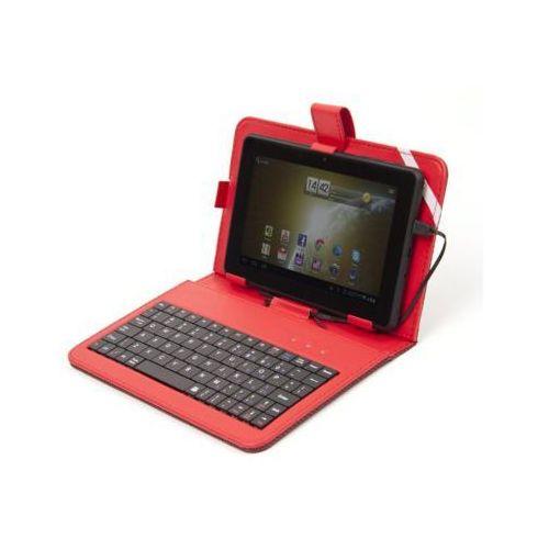Omega Etui z klawiaturą indiana hungarian keyboard with micro usb czerwony (5907595418348)