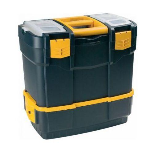 Plastikowe walizki na narzędzia z dodatkowym pojemnikiem (8010693046003)