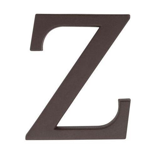 Litera Z wys. 9 cm PVC brązowa (5901912823464)