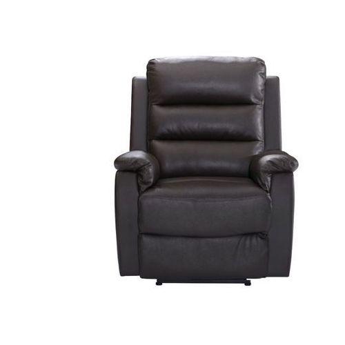 Fotel TRIVENTO —z dwoiny skórzanej — elektryczna funkcja relaksu — czekoladowy, kolor brązowy
