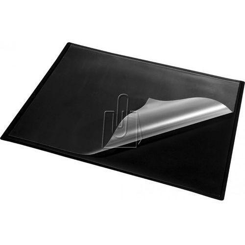 Panta plast Podkład na biurko z bezbarwną folią czarny