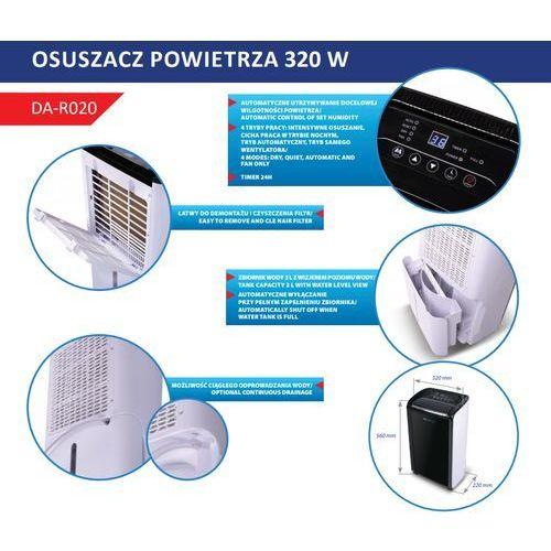 Dedra polska Dedra descon da-r020 osuszacz powietrza pochłaniacz wilgoci 20l/24h mocny ewimax oficjalny dystrybutor - autoryzowany dealer dedra (5902628210982)