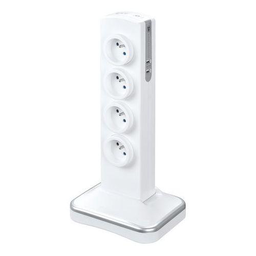 Przedłużacz Masterplug 8 x 16 A 3 x 1,5 2 x USB 2 m biały