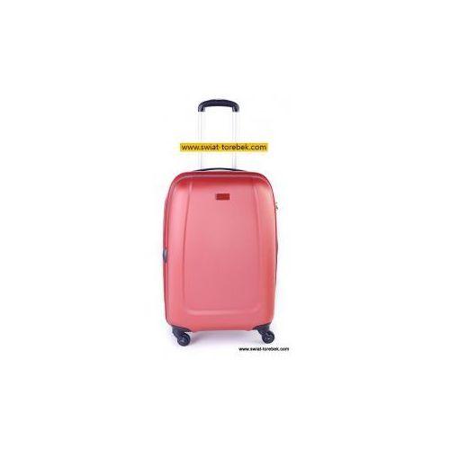 PUCCINI walizka średnia z kolekcji ABS01 twarda 4 koła materiał ABS zamek szyfrowy z systemem TSA