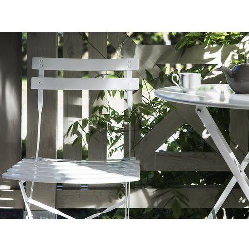 Beliani Meble ogrodowe białe - balkonowe - stół z 2 krzesłami - fiori (7081457544142)