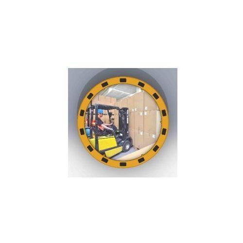 Lustro z żółto-czarną ramą okrągłe - odległość obserwacyjna 11 m, ED - I 60 DAN