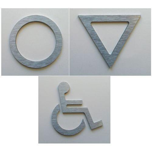 WC, piktogram, symbol, znak ubikacji z aluminium - produkt z kategorii- Akcesoria do drzwi
