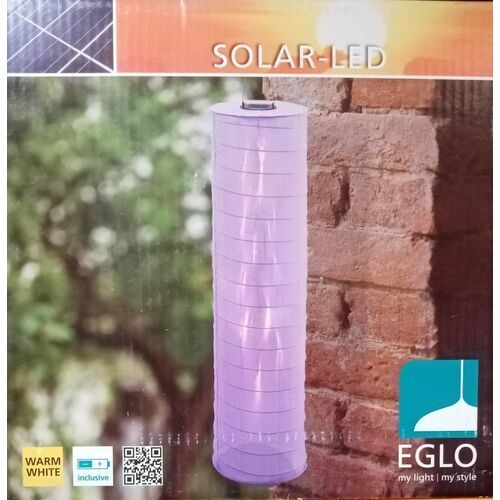 Fioletowa lampa wisząca solar LED (9002759486037)