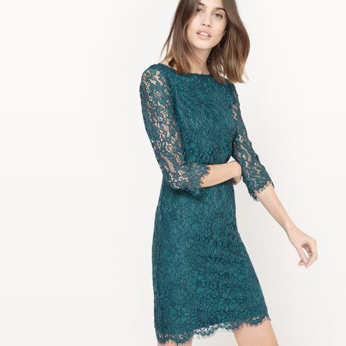 Sukienka koronkowa z dekoltem z tyłu, La redoute collections