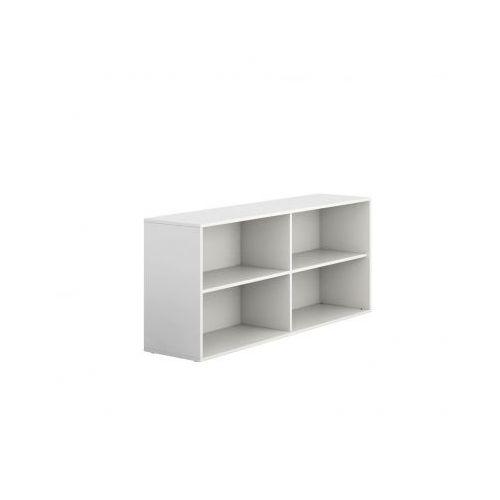 Szafka biurowa bez drzwi niska długa block white marki Plan