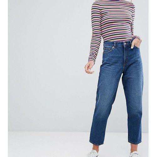 Monki Taiki High Waist Mom Jeans - Blue, kolor niebieski