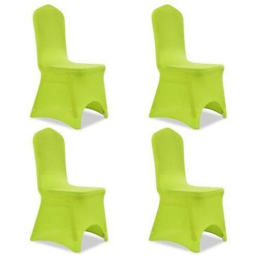 Elastyczne pokrowce na krzesło zielone 4 szt.